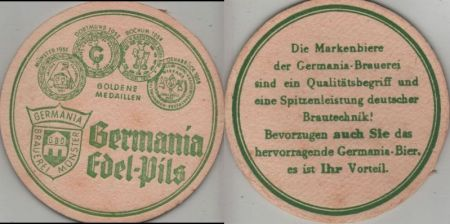 Bierdeckel rund - Germania